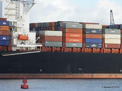APL QINGDAO Departing Southampton PDM 09-01-2014 14-21-22