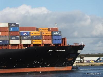 APL QINGDAO Departing Southampton PDM 09-01-2014 14-16-14