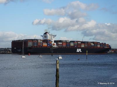 APL QINGDAO Departing Southampton PDM 09-01-2014 14-23-11