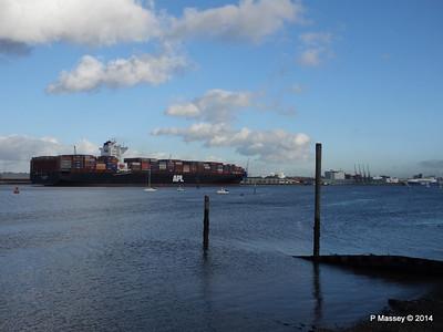 APL QINGDAO Departing Southampton PDM 09-01-2014 14-22-18