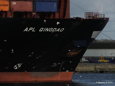 APL QINGDAO Departing Southampton PDM 09-01-2014 14-16-47
