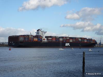 APL QINGDAO Departing Southampton PDM 09-01-2014 14-22-10