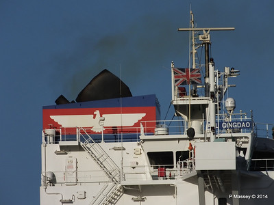 APL QINGDAO Departing Southampton PDM 09-01-2014 14-17-23