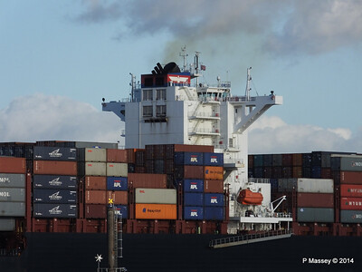 APL QINGDAO Departing Southampton PDM 09-01-2014 14-23-25