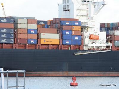 APL QINGDAO Departing Southampton PDM 09-01-2014 14-21-29