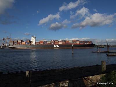 APL QINGDAO Departing Southampton PDM 09-01-2014 14-16-53
