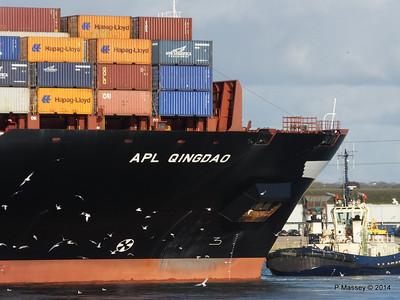 APL QINGDAO Departing Southampton PDM 09-01-2014 14-16-25