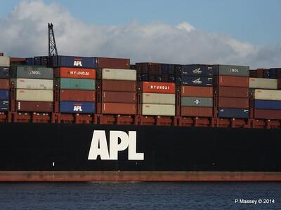 APL QINGDAO Departing Southampton PDM 09-01-2014 14-21-19