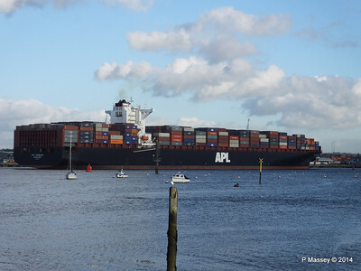 APL QINGDAO Departing Southampton PDM 09-01-2014 14-23-04