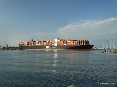APL RAFFLES Departing Southampton PDM 20-06-2014 19-17-14