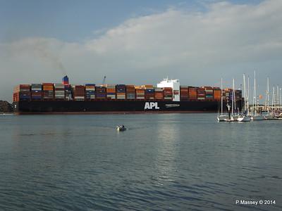 APL RAFFLES Departing Southampton PDM 20-06-2014 19-23-00