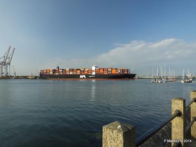 APL RAFFLES Departing Southampton PDM 20-06-2014 19-18-17