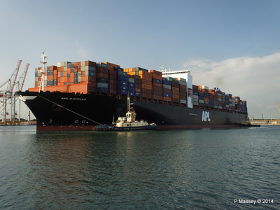 APL RAFFLES Departing Southampton PDM 20-06-2014 19-11-30