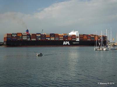 APL RAFFLES Departing Southampton PDM 20-06-2014 19-23-04