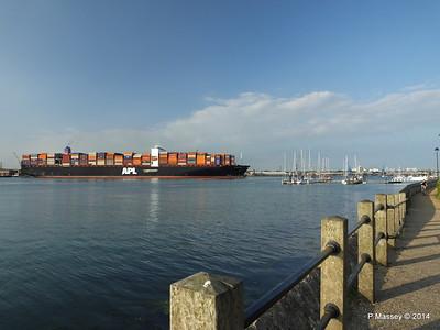 APL RAFFLES Departing Southampton PDM 20-06-2014 19-18-21
