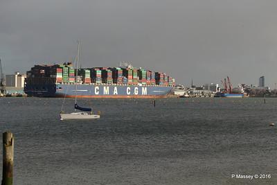 CMA CGM AMERIGO VESPUCCI Outbound DANIELLA Southampton PDM 02-02-2016 13-30-028