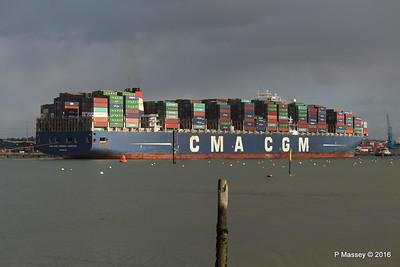 CMA CGM AMERIGO VESPUCCI Outbound Southampton PDM 02-02-2016 13-26-54