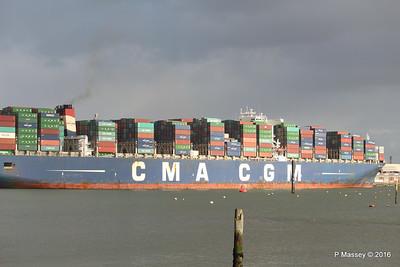 CMA CGM AMERIGO VESPUCCI Outbound Southampton PDM 02-02-2016 13-25-46