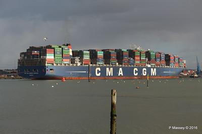 CMA CGM AMERIGO VESPUCCI Outbound Southampton PDM 02-02-2016 13-26-53