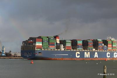 CMA CGM AMERIGO VESPUCCI Outbound Southampton PDM 02-02-2016 13-25-48