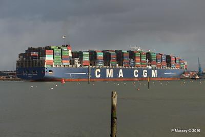 CMA CGM AMERIGO VESPUCCI Outbound Southampton PDM 02-02-2016 13-26-52