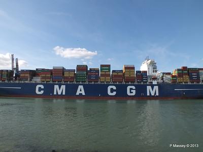 CMA CGM ANDROMEDA Departing Southampton PDM 01-06-2013 17-11-55