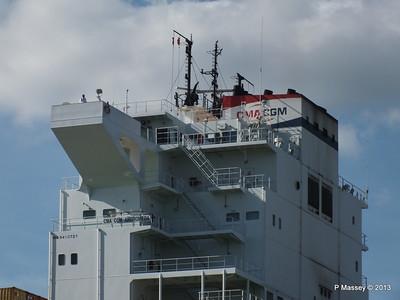 CMA CGM ANDROMEDA Departing Southampton PDM 01-06-2013 17-10-28