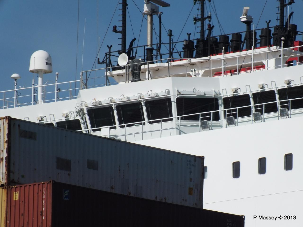 CMA CGM ANDROMEDA Departing Southampton PDM 01-06-2013 17-13-18