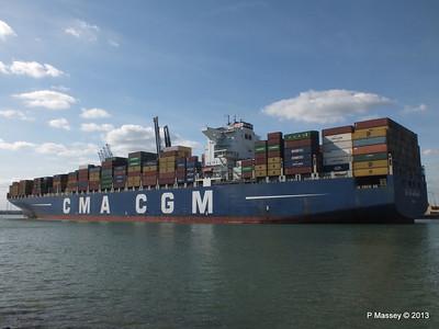 CMA CGM ANDROMEDA Departing Southampton PDM 01-06-2013 17-09-48