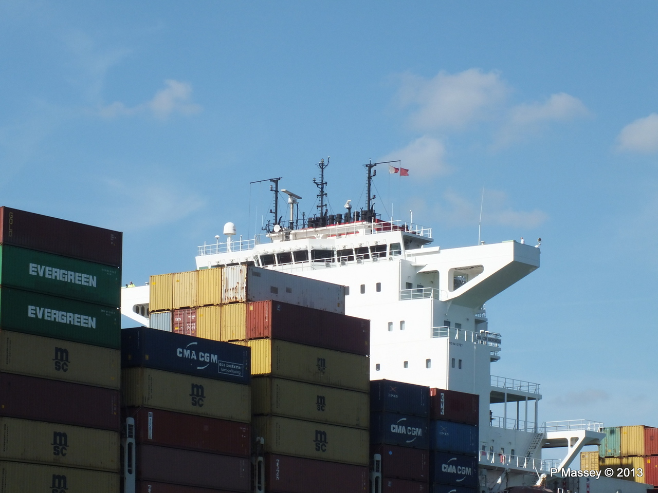 CMA CGM ANDROMEDA Departing Southampton PDM 01-06-2013 17-13-30