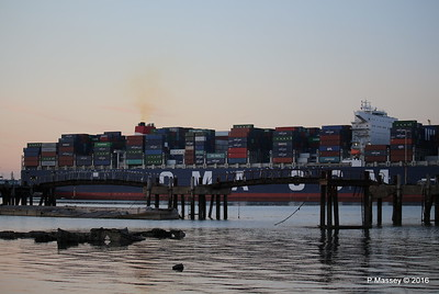 CMA CGM JULES VERNE Outbound Marchwood Jetty Southampton PDM 30-08-2016 19-58-23