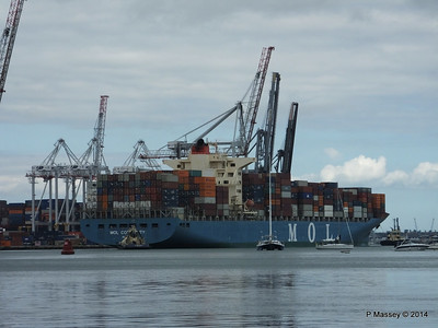MOL CONTINUITY Departing Southampton PDM 16-07-2014 15-53-11