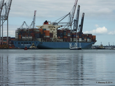 MOL CONTINUITY Departing Southampton PDM 16-07-2014 15-51-49