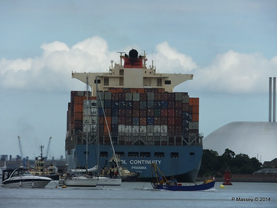 MOL CONTINUITY Departing Southampton PDM 16-07-2014 15-59-02