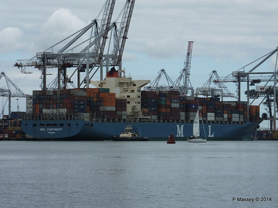 MOL CONTINUITY Departing Southampton PDM 16-07-2014 15-46-18