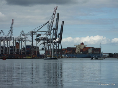 MOL CONTINUITY Departing Southampton PDM 16-07-2014 16-03-14