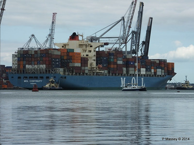MOL CONTINUITY Departing Southampton PDM 16-07-2014 15-51-43