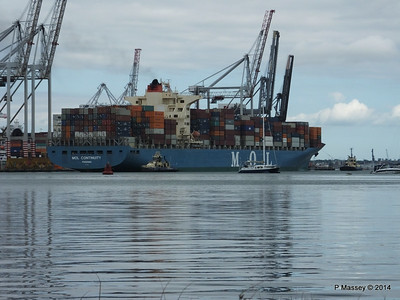 MOL CONTINUITY Departing Southampton PDM 16-07-2014 15-51-20