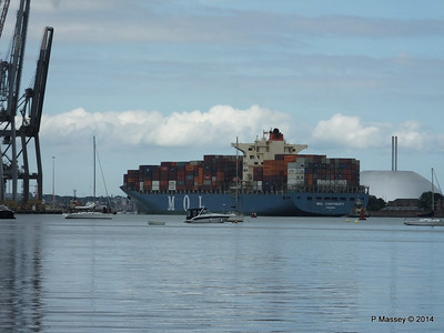 MOL CONTINUITY Departing Southampton PDM 16-07-2014 16-01-14