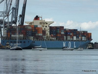 MOL CONTINUITY Departing Southampton PDM 16-07-2014 15-55-59