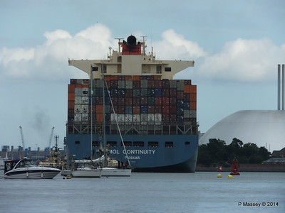 MOL CONTINUITY Departing Southampton PDM 16-07-2014 15-58-54