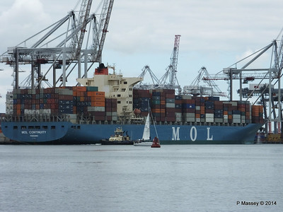 MOL CONTINUITY Departing Southampton PDM 16-07-2014 15-47-08