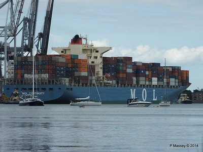 MOL CONTINUITY Departing Southampton PDM 16-07-2014 15-56-02