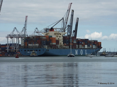 MOL CONTINUITY Departing Southampton PDM 16-07-2014 15-53-07