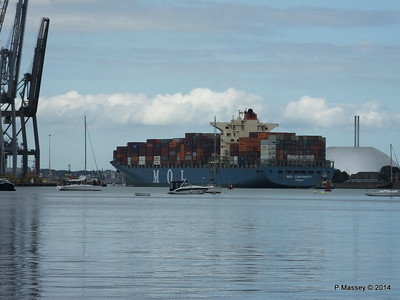 MOL CONTINUITY Departing Southampton PDM 16-07-2014 16-01-13