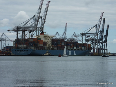 MOL CONTINUITY Departing Southampton PDM 16-07-2014 15-46-47