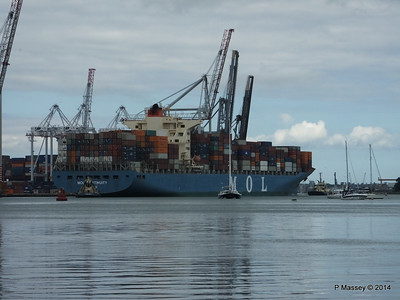 MOL CONTINUITY Departing Southampton PDM 16-07-2014 15-52-40