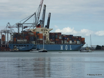 MOL CONTINUITY Departing Southampton PDM 16-07-2014 15-54-25