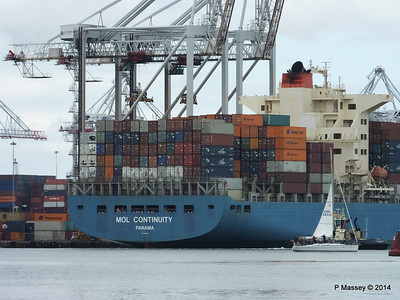 MOL CONTINUITY Departing Southampton PDM 16-07-2014 15-47-45