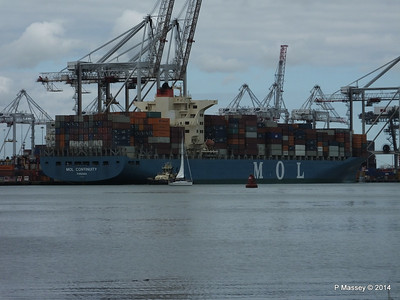MOL CONTINUITY Departing Southampton PDM 16-07-2014 15-45-00